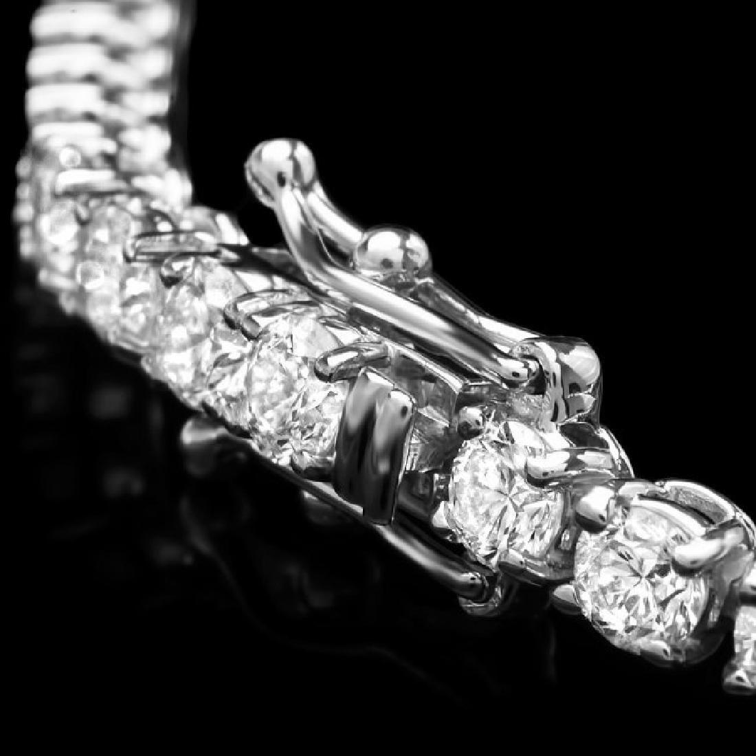 14k White Gold 6.60ct Diamond Bracelet - 3
