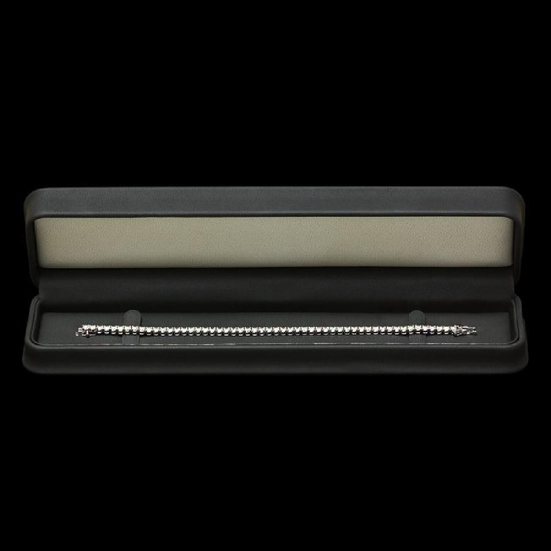 14k White Gold 6.60ct Diamond Bracelet - 5