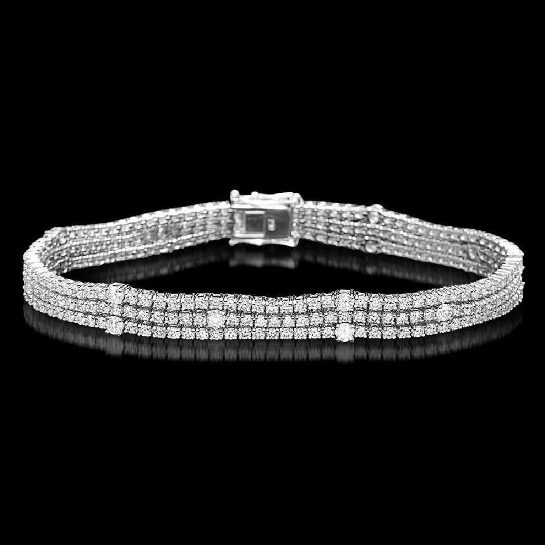 18K Gold 5.96ct Diamond Bracelet