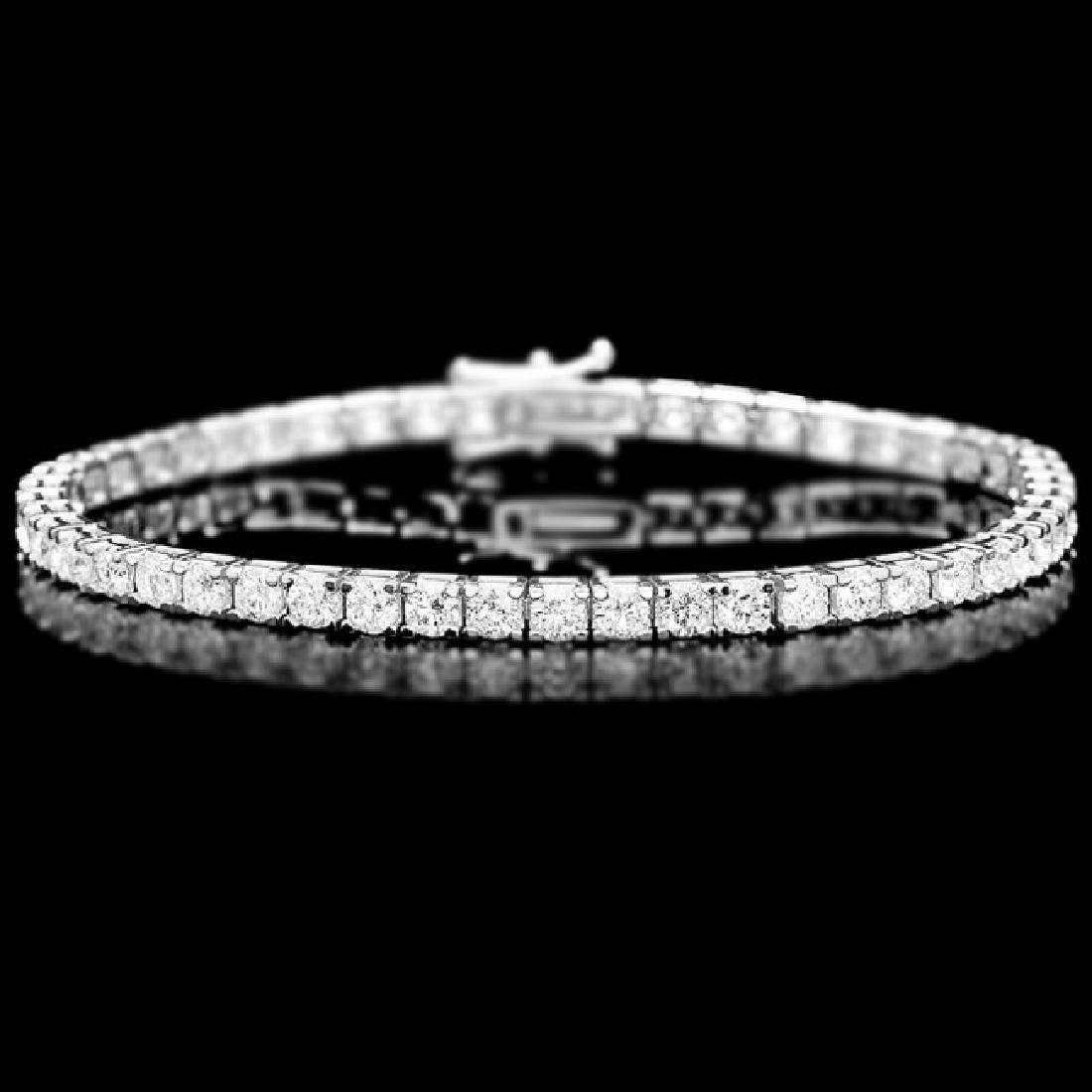 18k White Gold 6.50ct Diamond Bracelet