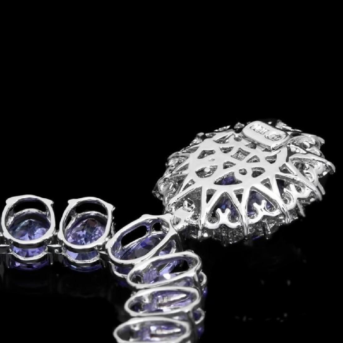 14k Gold 64.5ct Tanzanite 1.60ct Diamond Necklace - 4