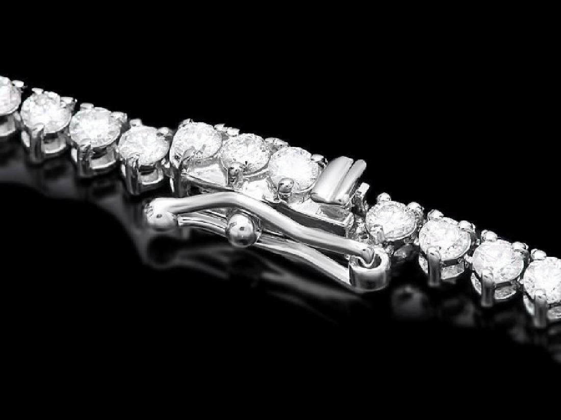 18k White Gold 8.50ct Diamond Necklace - 2