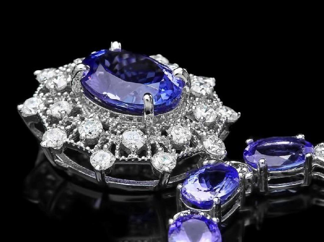 14k Gold 34.5ct Tanzanite 2.80ct Diamond Necklace