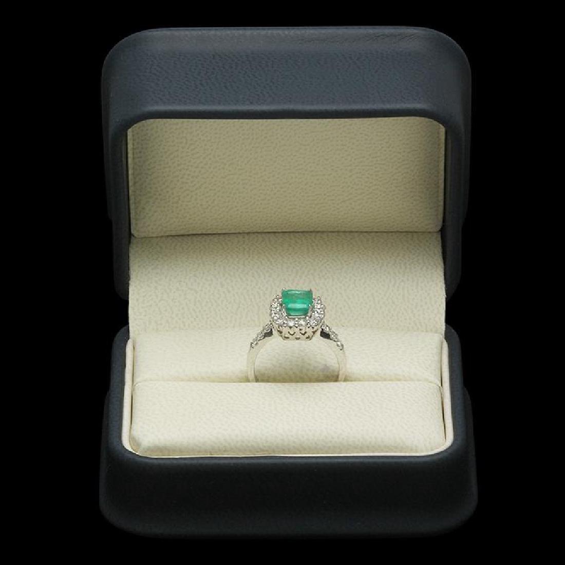 14K Gold 1.26ct Emerald 0.85ct Diamond Ring - 3