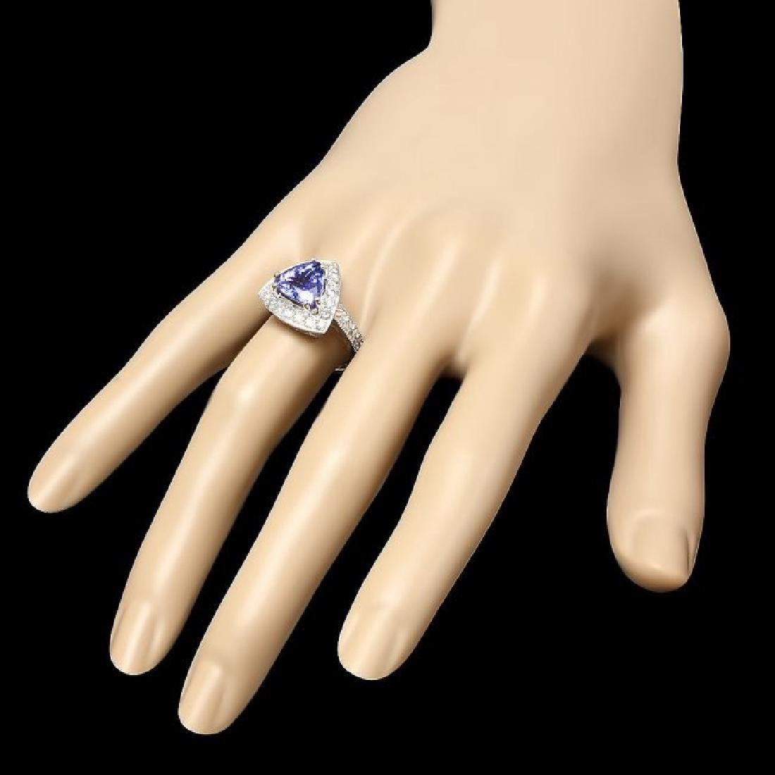 14k Gold 2.70ct Tanzanite 1.10ct Diamond Ring - 3