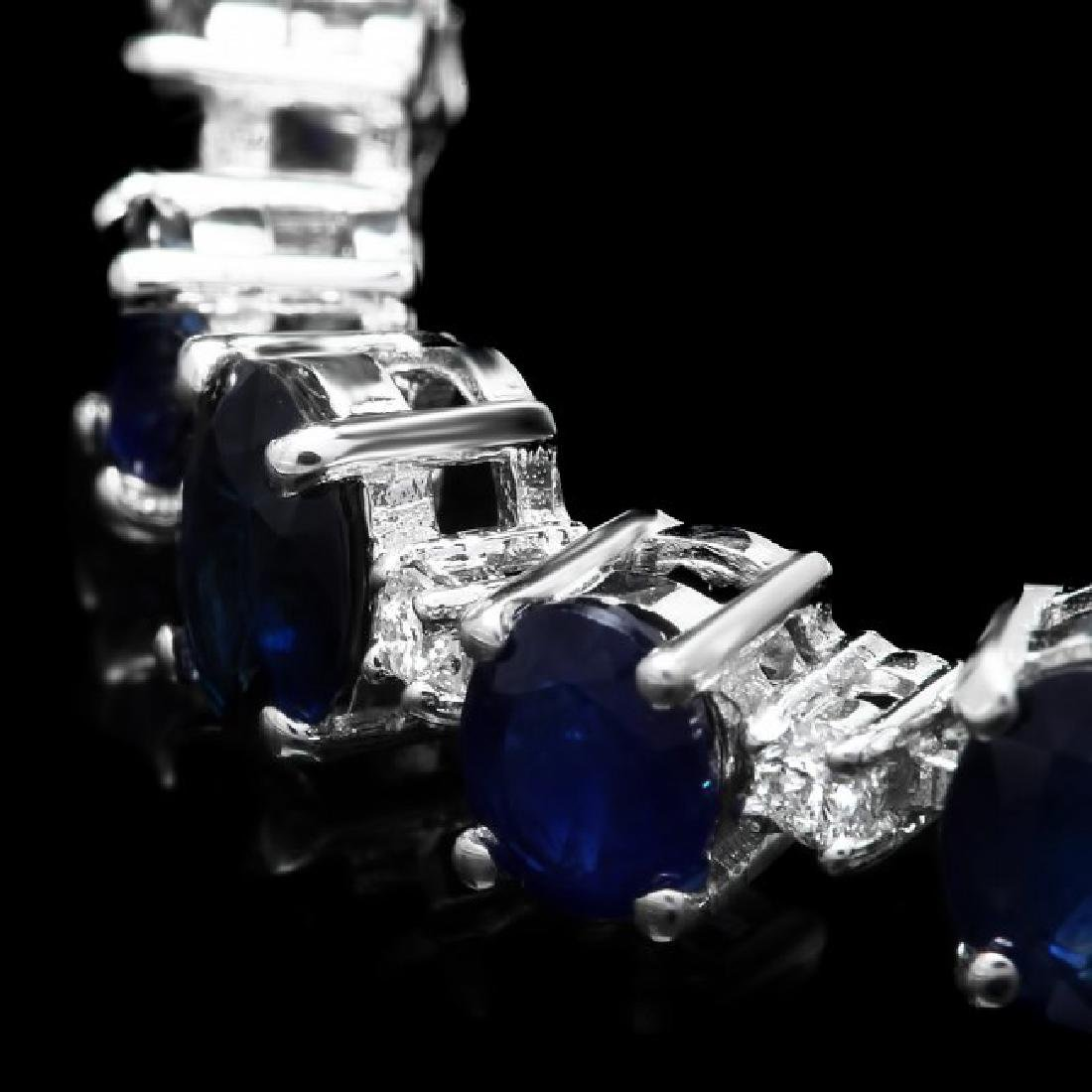 14k Gold 16.30ct Sapphire 1.10ct Diamond Bracelet - 2