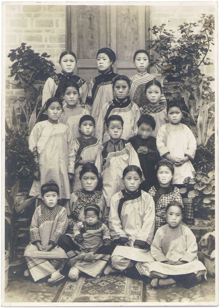 Unique Antique Candid Photo-Chinese/Tibet Children