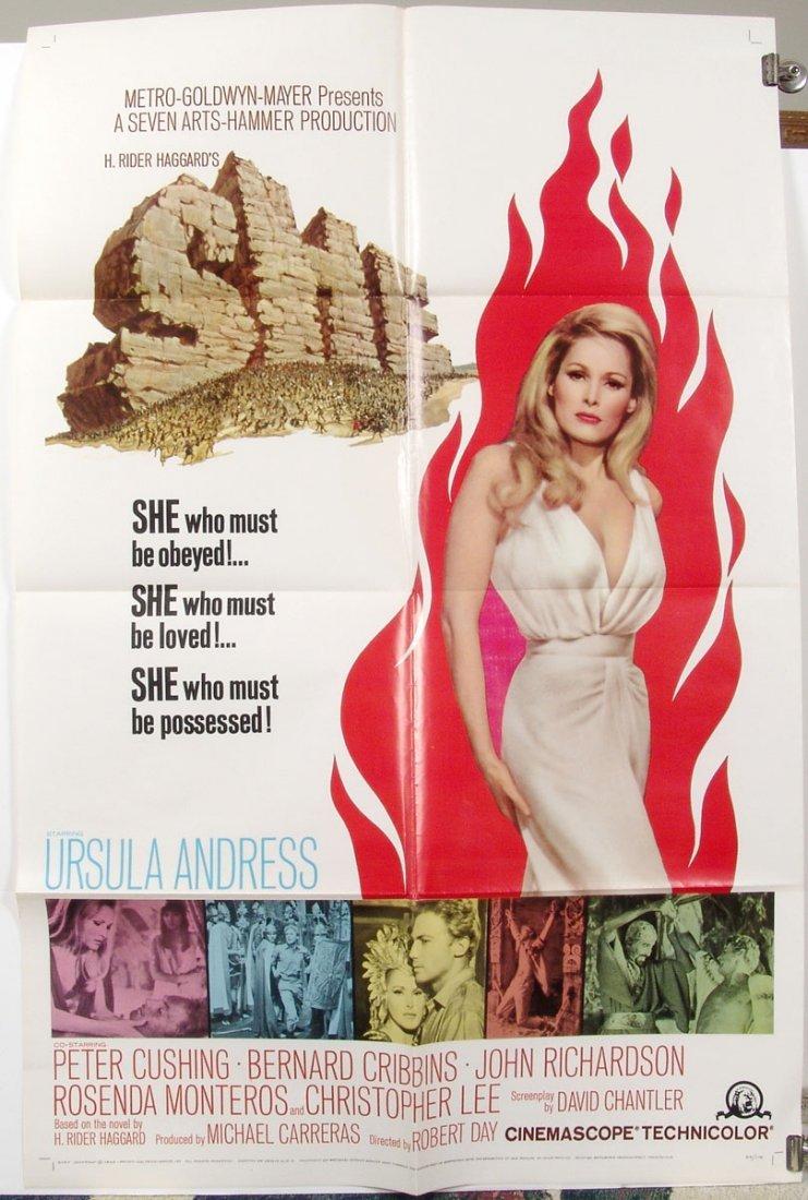 Original SHE '65 US 1-Sheet Movie Poster-Ursula Andress