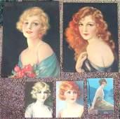 Lot Six PrintsEdwardian  Deco GirlsStunning Beauties