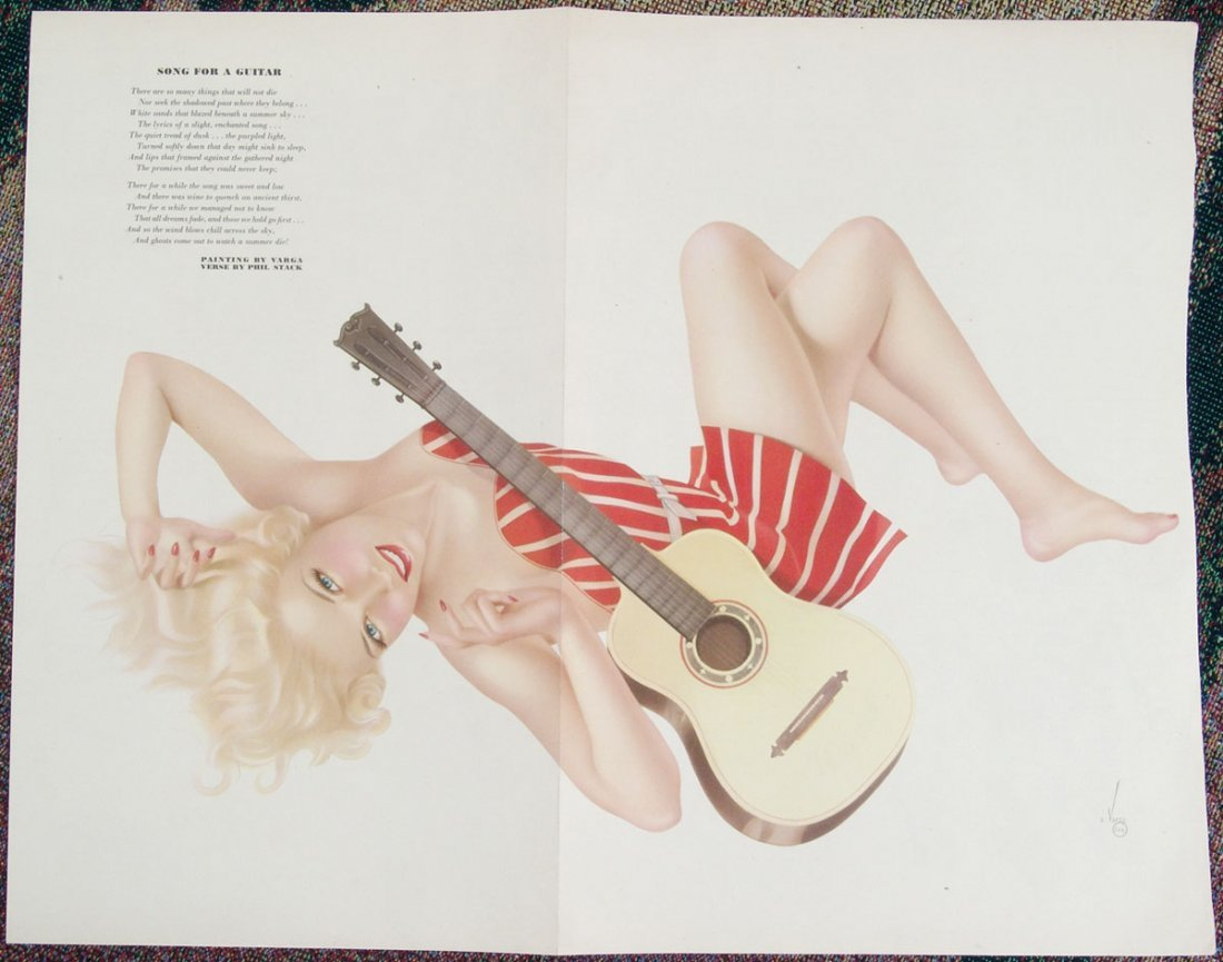 WWII Varga Pin-Up-Esquire Centerfold-Long Legs Blonde