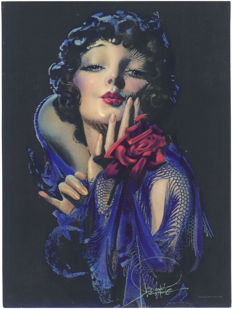 ROLF ARMSTRONG Vintage 1930s Pin-Up-Art Deco-Rose-Marie