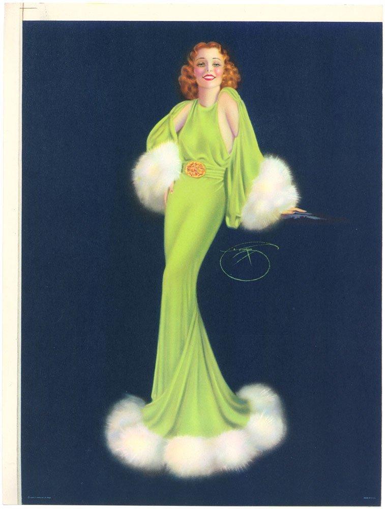 RARE 1930s DEVORSS PINUP-Art Deco Glamor Starlet