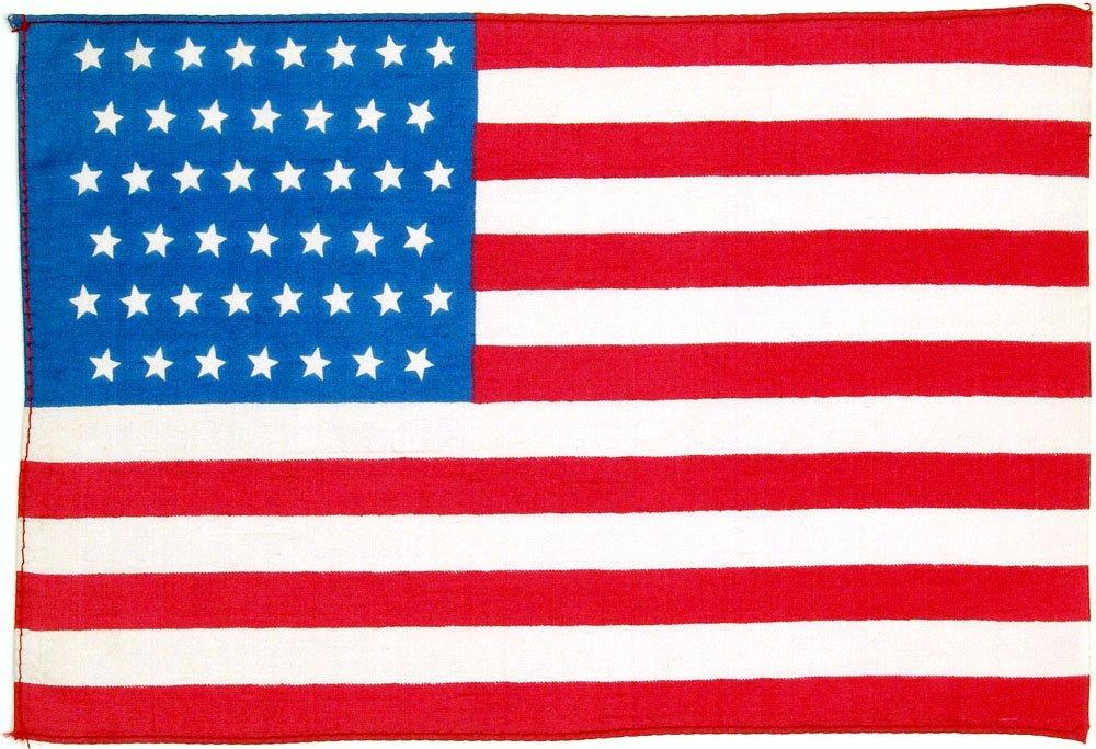 Old 45 Star Flag-MINT!-US American-Silk-c.1896-1908