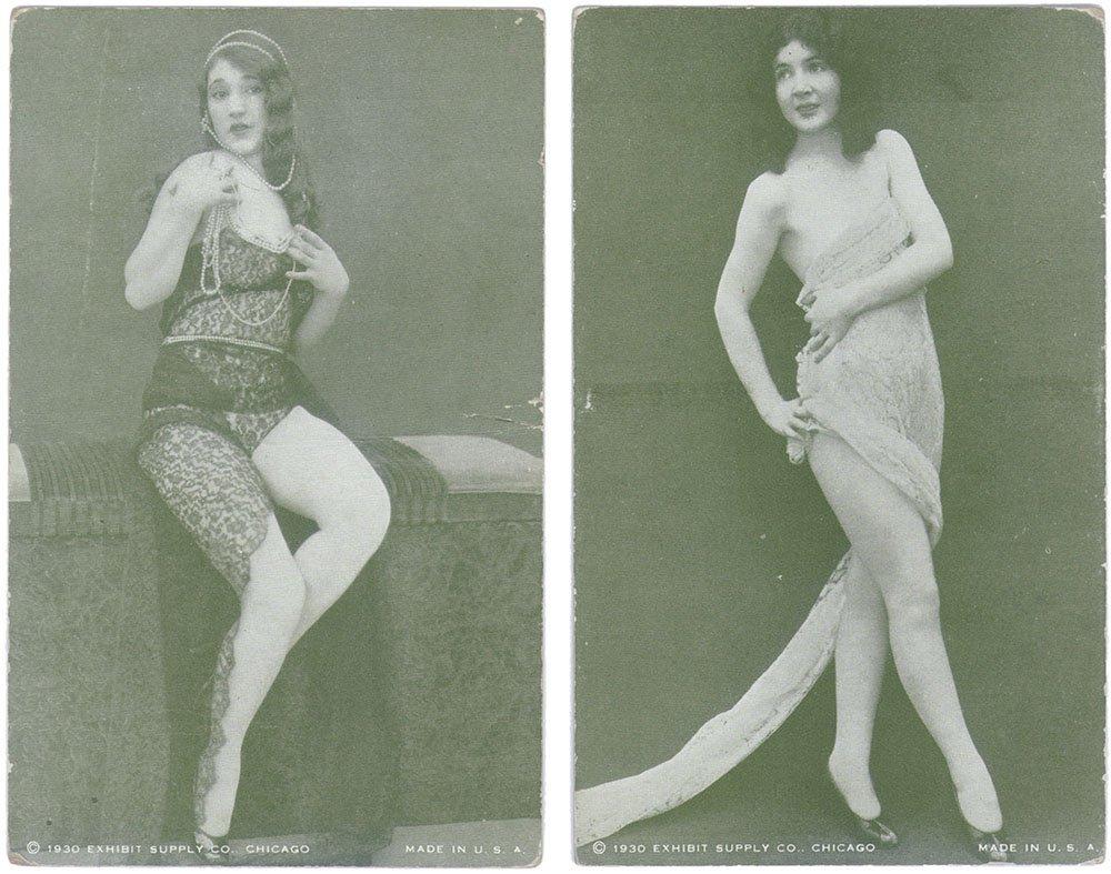 Old 1930 Risque Exhibit/Mutoscope CARDS-Burlesque Pinup