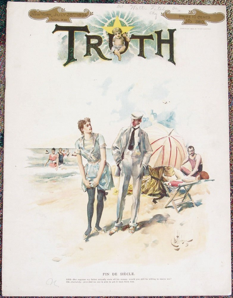 July 1894 TRUTH MAGAZINE-Charles Johnson-FIN DE SIECLE