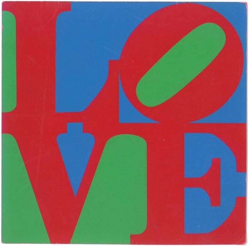 Vintage 1960s Robert Indiana LOVE Screen Print Card