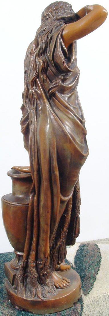 "Beautiful Antique c1890 33"" Sapho/Sappho Plaster Statue - 4"