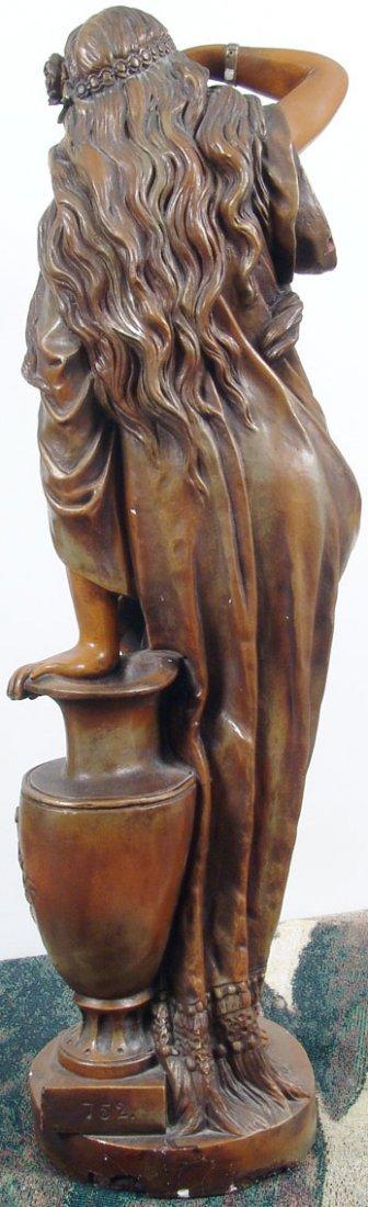 "Beautiful Antique c1890 33"" Sapho/Sappho Plaster Statue - 5"