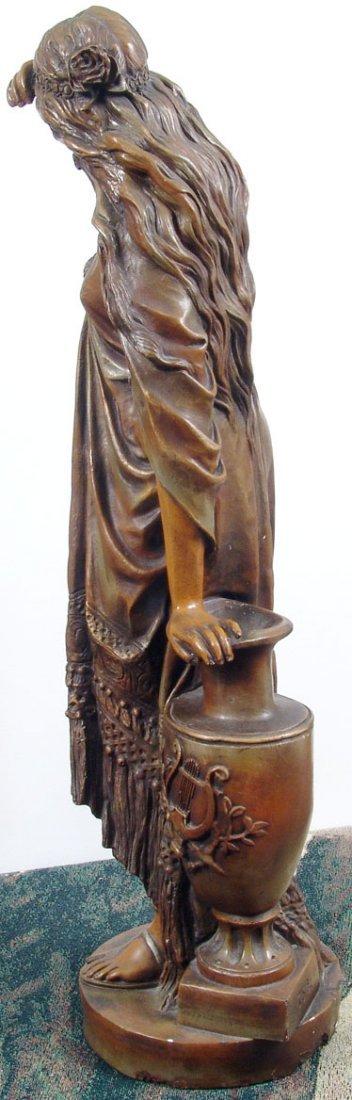 "Beautiful Antique c1890 33"" Sapho/Sappho Plaster Statue - 6"