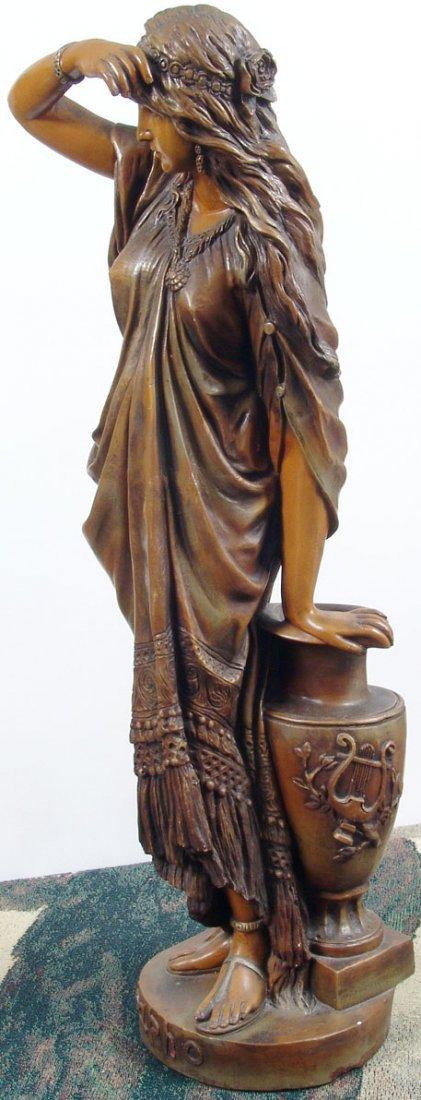 "Beautiful Antique c1890 33"" Sapho/Sappho Plaster Statue - 7"