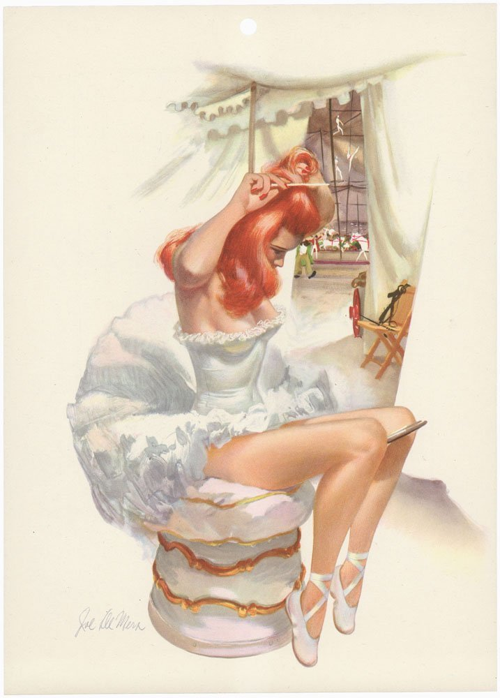 1948 Risque Circus Pin-Up DE MERS - Sexy Trapeze Artist