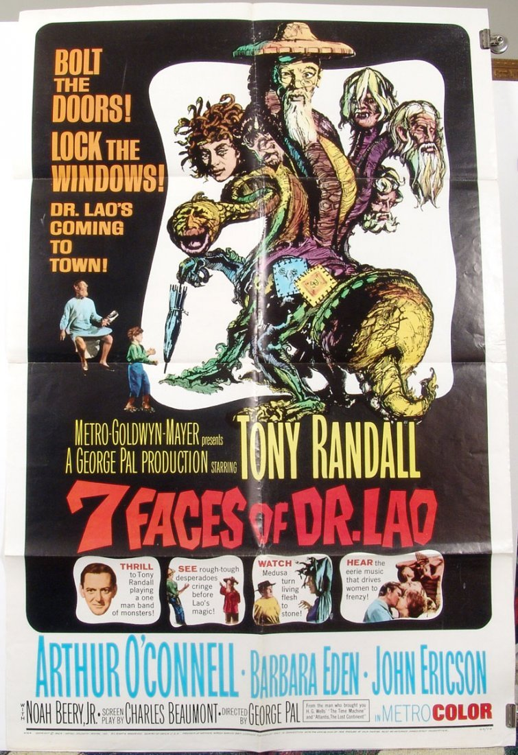 Original 7 FACES OF DR. LAO '64 US 1 Sheet Movie Poster