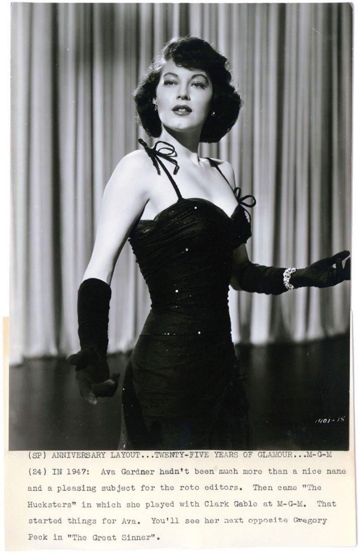Very Sexy Busty AVA GARDNER Rare 1940s Original Photo