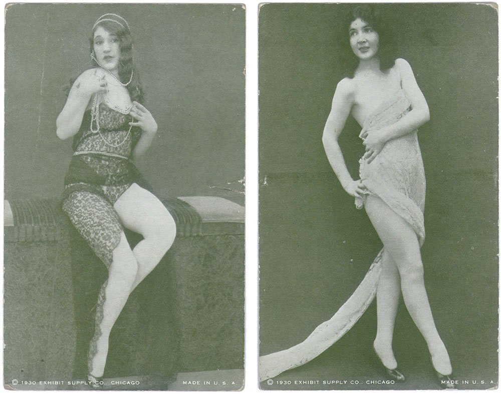 Old 1930 Risque Exhibit/Mutoscope CARDS-Burlesque Pinup