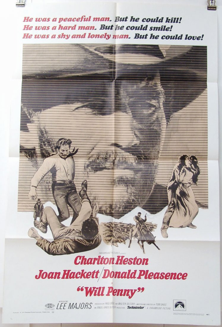 Original WILL PENNY 1968 U.S. One Sheet Movie Poster