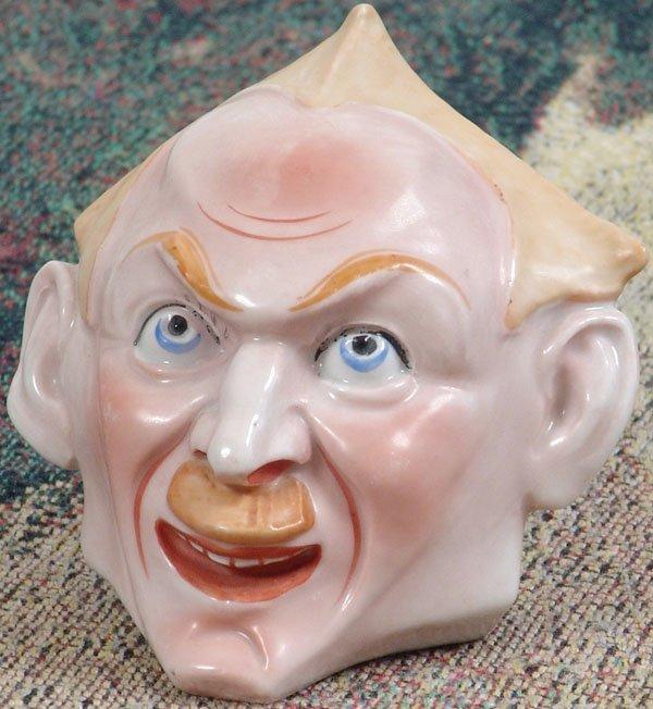 Vintage 1920s/1930s GERMAN CERAMIC HEAD Spooky Scary