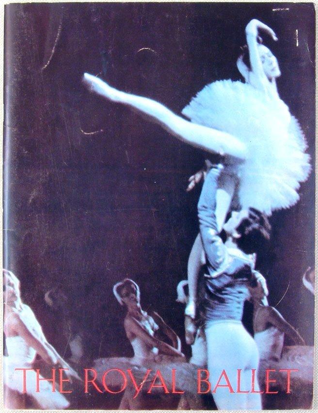 1965 Program THE ROYAL BALLET Nureyev Fonteyn Swan Lake