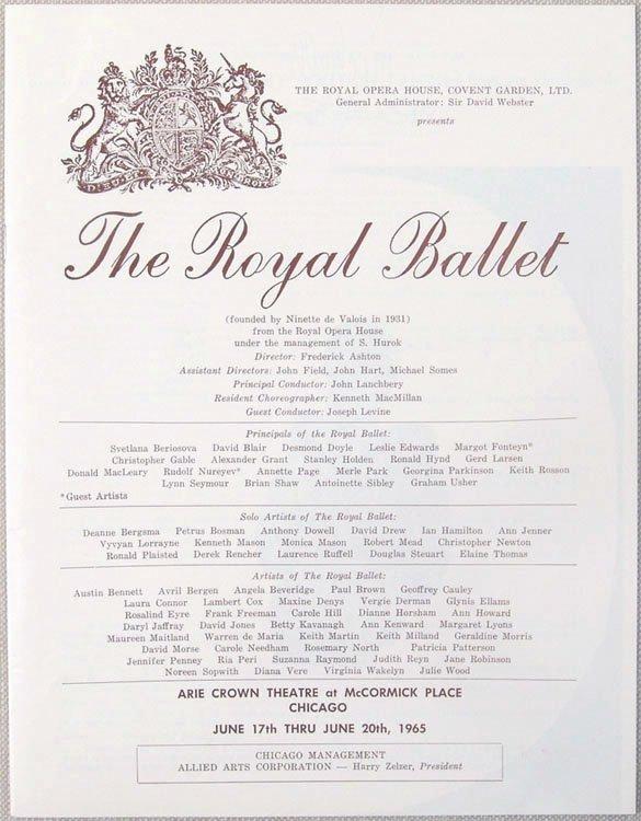 1965 Program THE ROYAL BALLET Nureyev Fonteyn Swan Lake - 2
