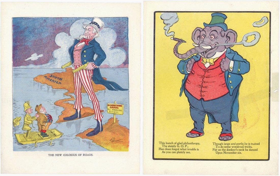6 Vintage c1900 Political Cartoons Bart Bartholomew