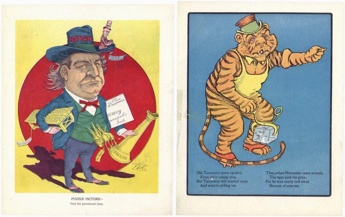 6 Vintage c1900 Political Cartoons Bart Bartholomew - 2