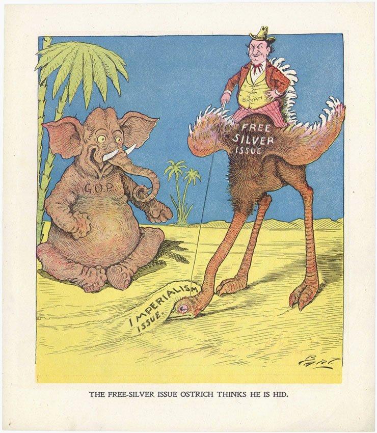6 Vintage c1900 Political Cartoons Bart Bartholomew - 3