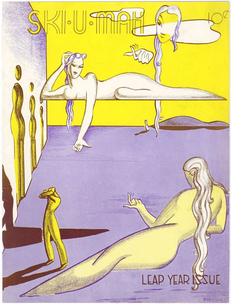 SKI-U-MAH Minnesota 1940 Risque Cover Art Deco Nudes
