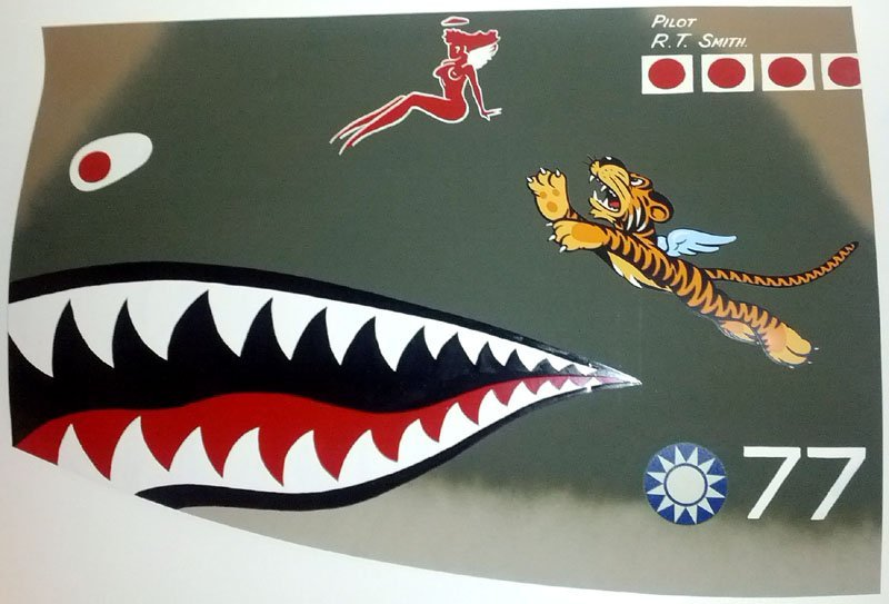 P-40 Flying Tigers Aluminum Nose Art Panel Reproduction