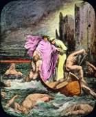 c1910 Lantern Slide DANTE'S INFERNO Hell/Torment
