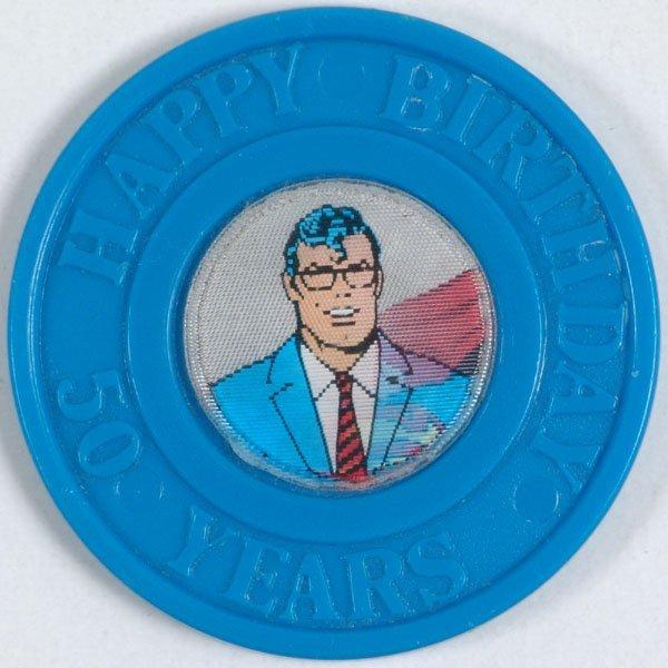 Vintage SUPERMAN Lenticular/Flicker Coin Medallion
