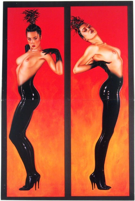 1980s OLIVIA Pin-Up Greeting Cards Nudes in High Heels
