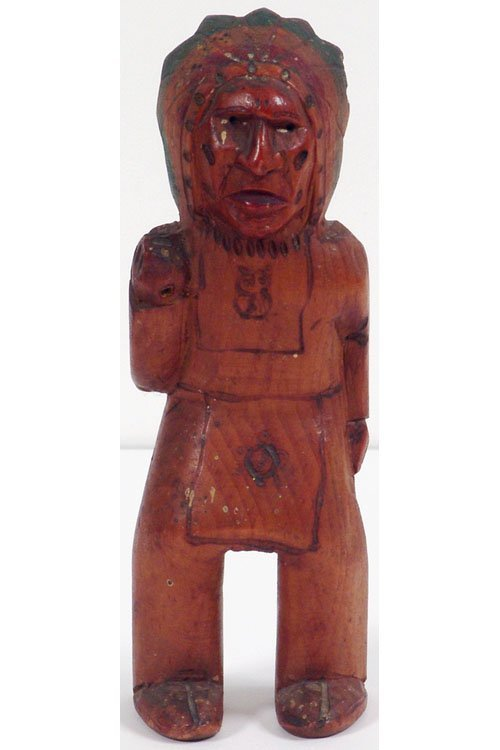 Old 1940s Wood Carving INDIAN CHIEF Chase's Lodge