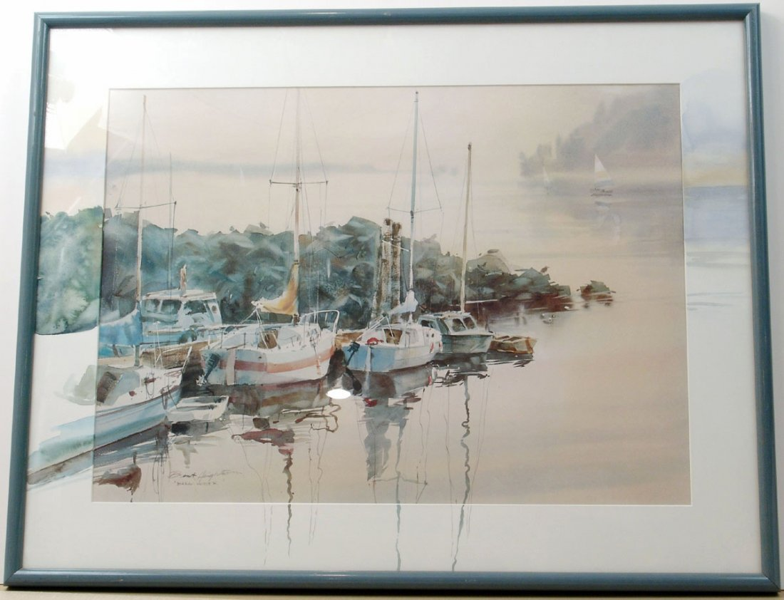 LARGE Brent Heighton Framed Print BREAKWATER Unique Mat