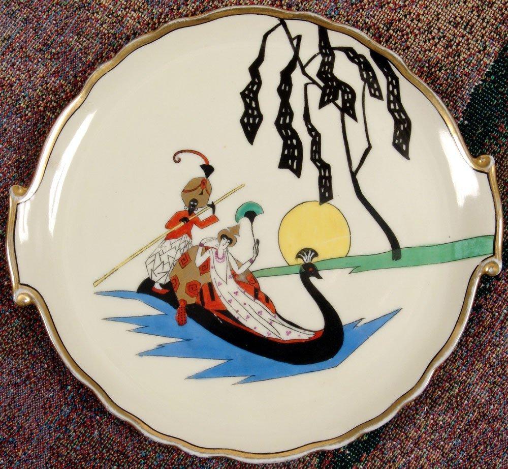 Noritake Art Deco Plate PERSIAN PRINCESS Handpainted