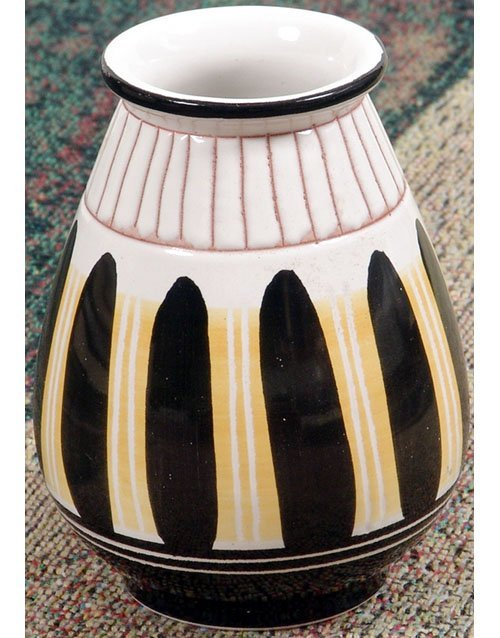 Mid-Century Modern Vase Norway Signed - Feather Design