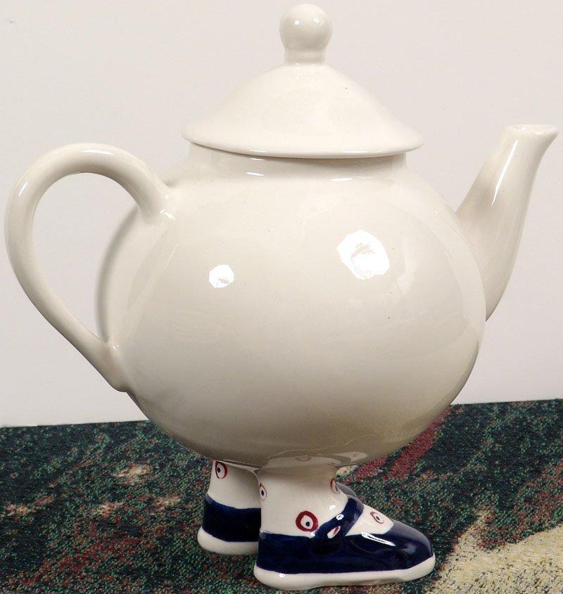 "WALKING WARE Adorable 8"" Teapot ENGLAND Mary Jane Shoes"