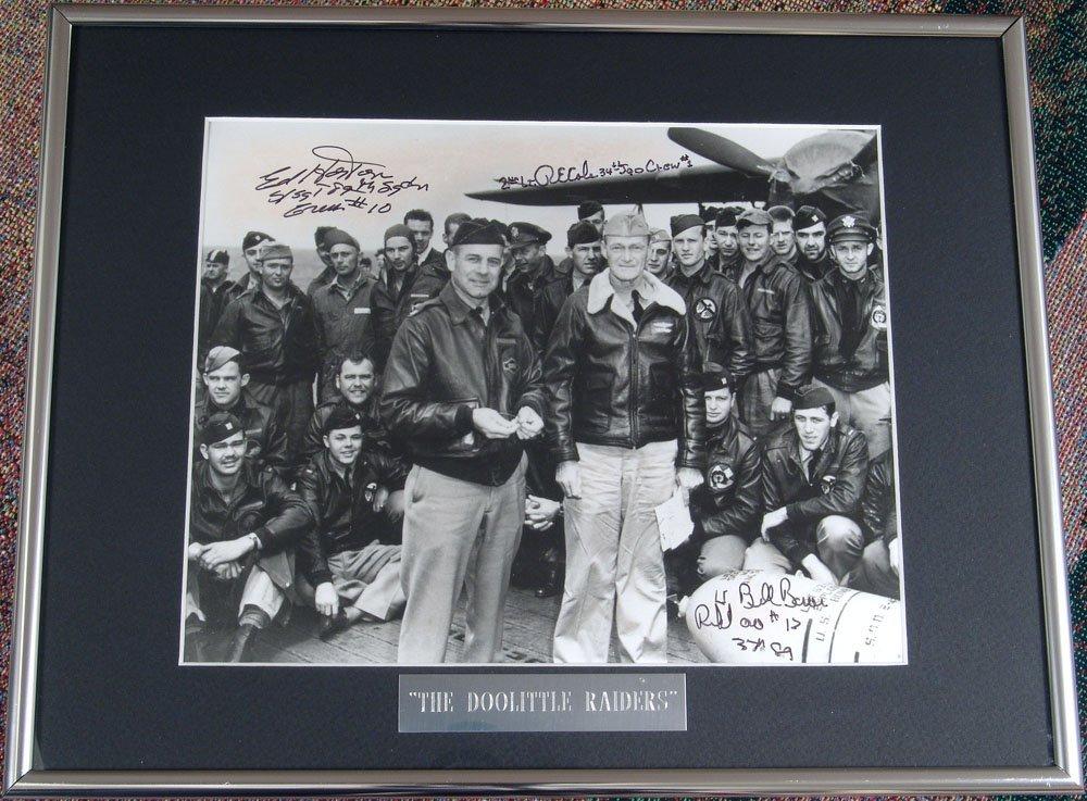 Framed DOOLITTLE RAIDERS WWII Signed Photo