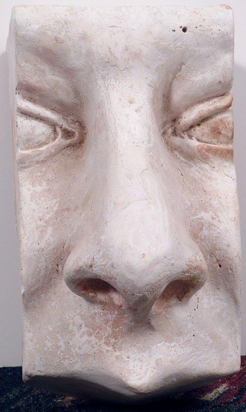 Modern Art 1960s FACE SCULPTURE Easter Island-esque