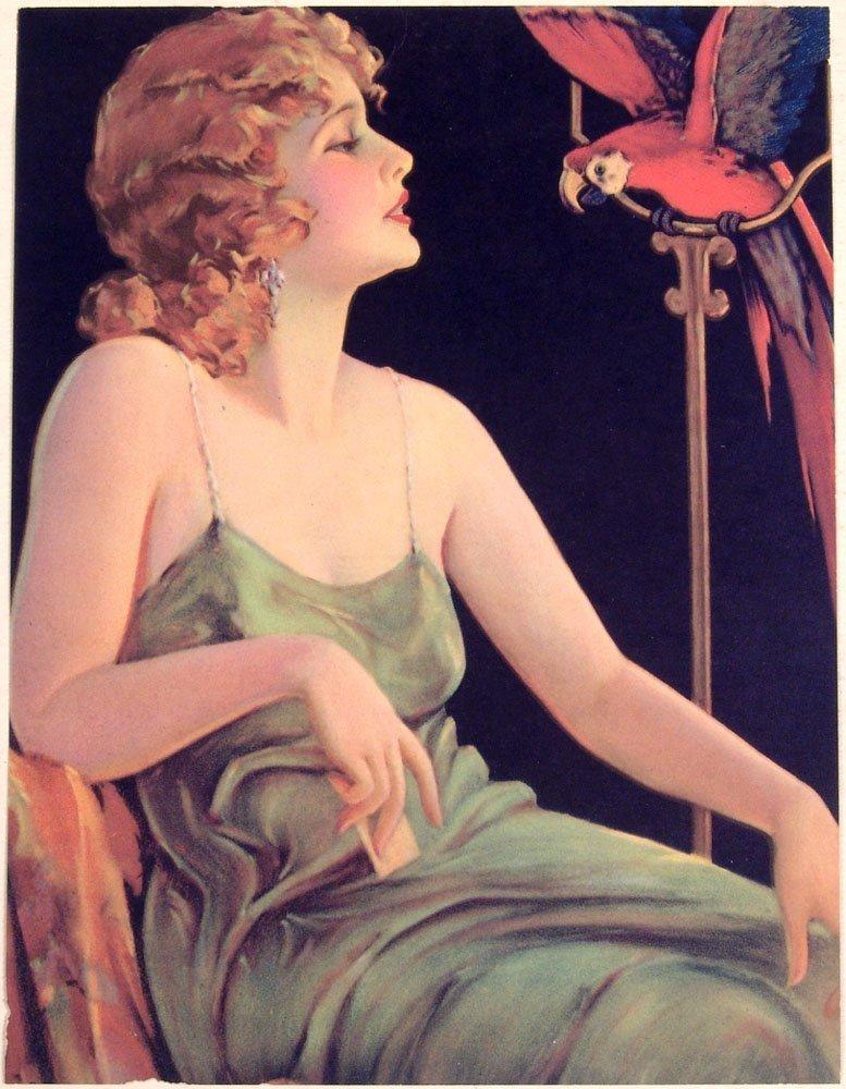 GENE PRESSLER Vtg 1930s Deco Calendar Jazz Age Flapper