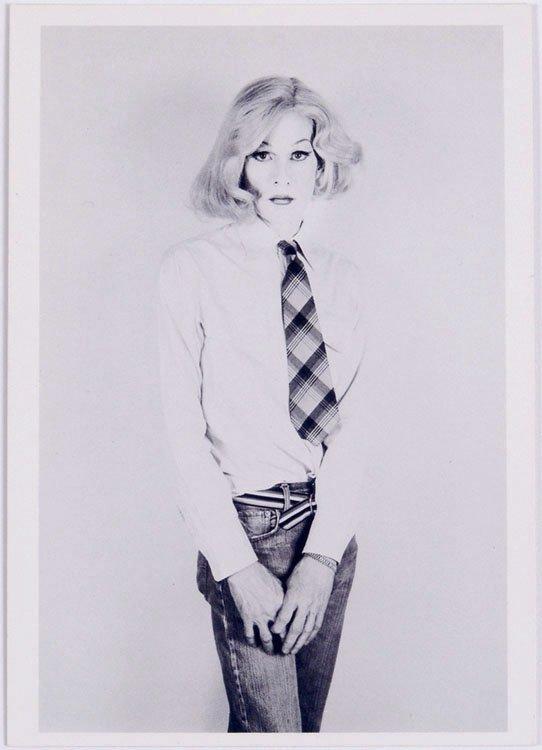 1985 MAKOS Photo Postcard ANDY WARHOL as a Woman