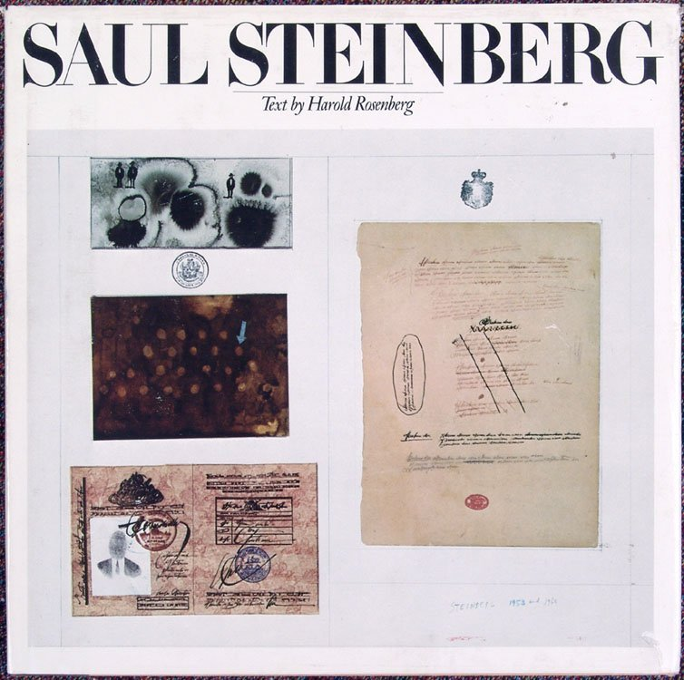 1978 Book SAUL STEINBERG 250 Pages 274 Illustrations